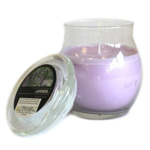 Lavender Scented Large Glass Jar Candle