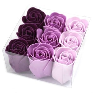 Luxury Bath Roses – Lavender (Gift Wrapped 9)