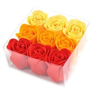 Luxury Bath Roses – Peach (Gift Wrapped 9)